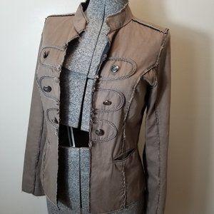 BKE Military Raw Edge Tan Jacket/Blazer Med